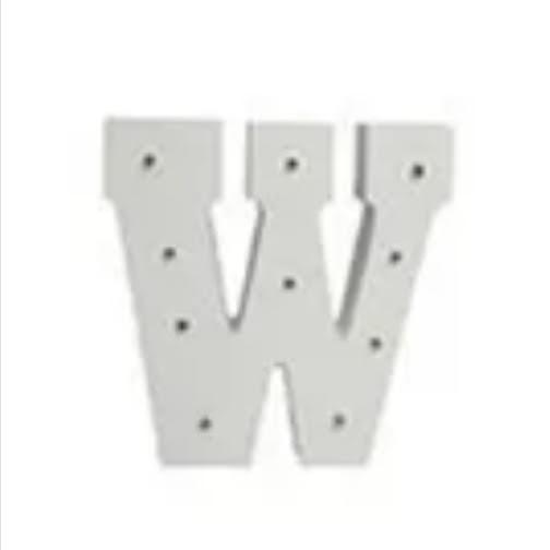 מנורת לילה אותיות באנגלית אות W