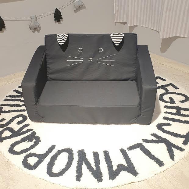ספה לילדים דגם חתול שחור