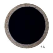 שטיח עגול קש שחור עם מסגרת טיבעי דגם פורטין