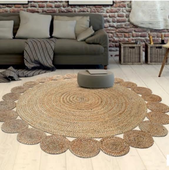 שטיח עגול מחבל דגם ריו