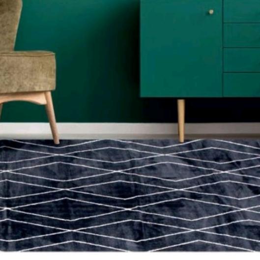 שטיח לסלון דגם אורלינס אפור פחם