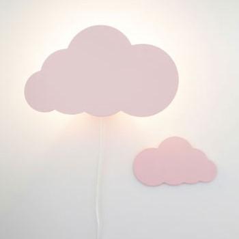 מנורת לילה לחדרי ילדים דגם ענן ורוד