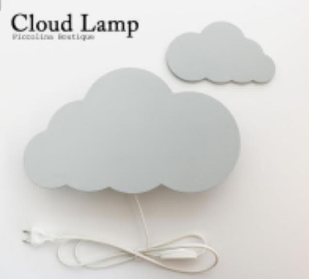 מנורת לילה לחדרי ילדים- ענן אפור