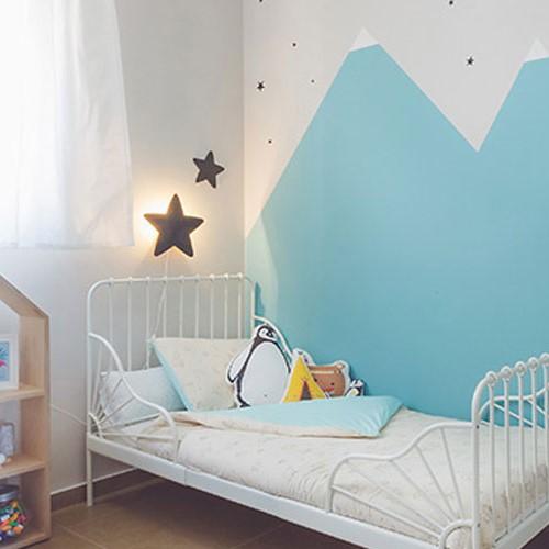 מנורת לילה לחדר ילדים דגם כוכב מגיר שחור
