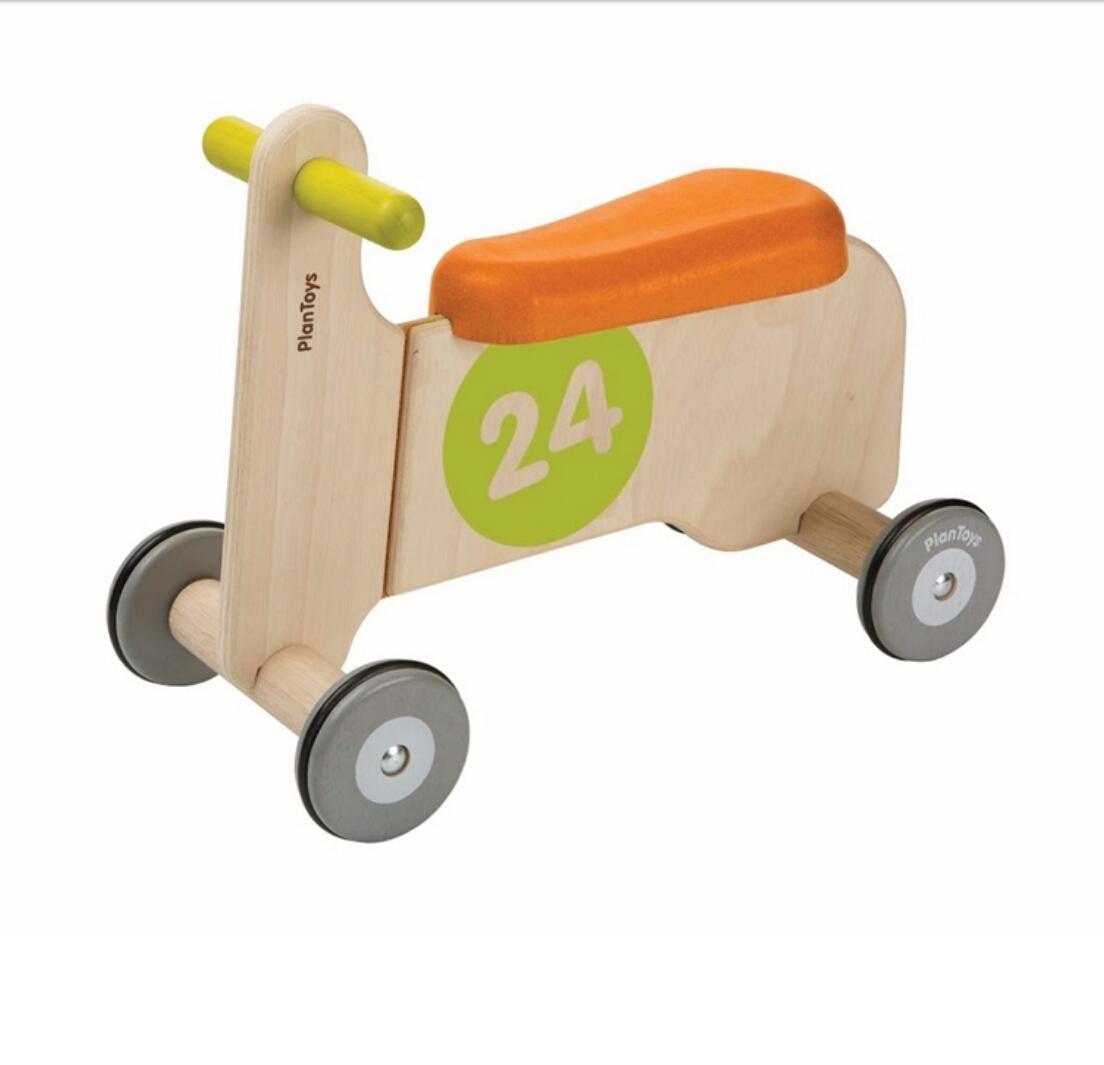 אופנוע עץ לילדים בימבה מעץ - חרדל