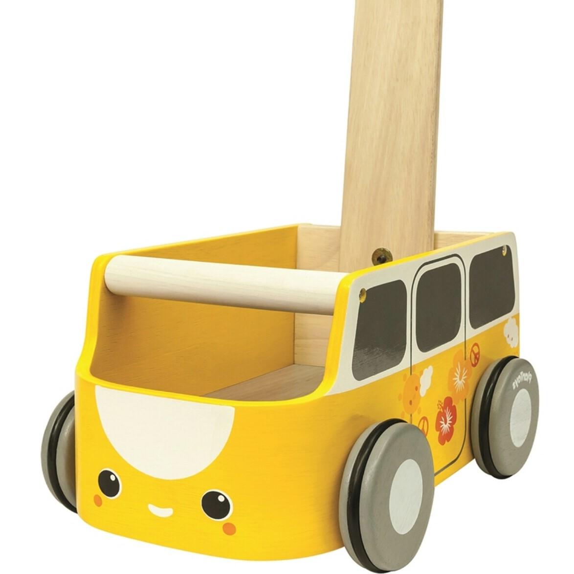 הליכון עגלת דחיפה לילדים גוון צהוב