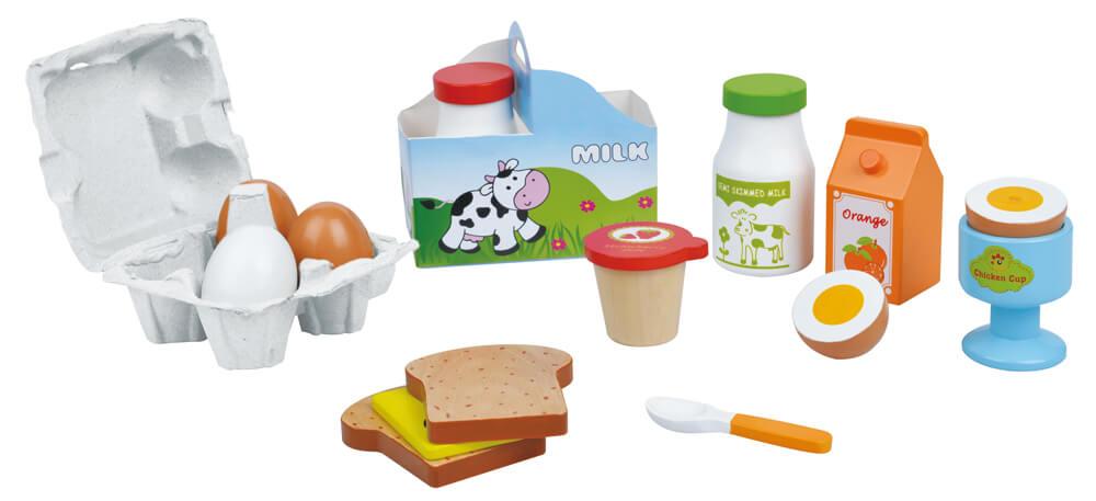 צעצועי עץ ארוחת בוקר מעץ