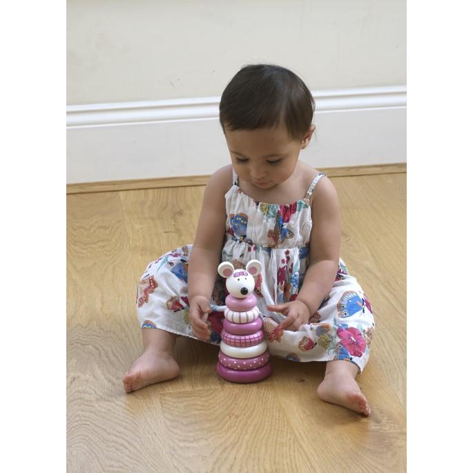 מגדל טבעות משחק השחלה לתינוקת