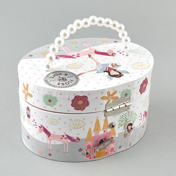 תיבת תכשיטים לילדה דגם חד קרן