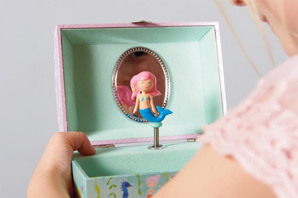 קופסת תכשיטים לילדות דגם בת הים הקטנה