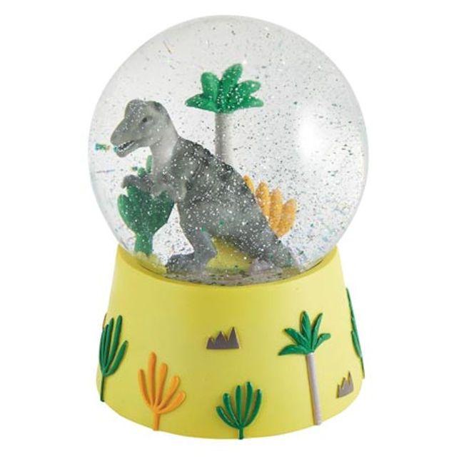 כדור שלג תיבת נגינה דגם דינוזאור