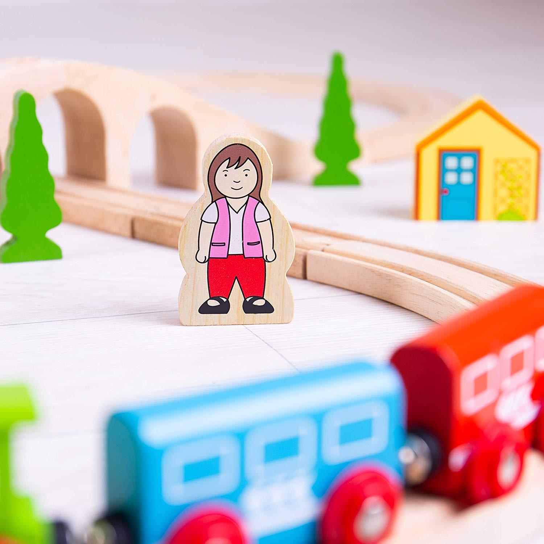 סט רכבות מסלול מעץ