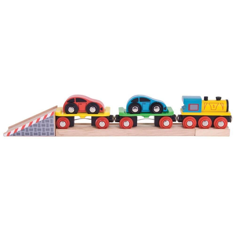 נושאת מכוניות רכבת מעץ