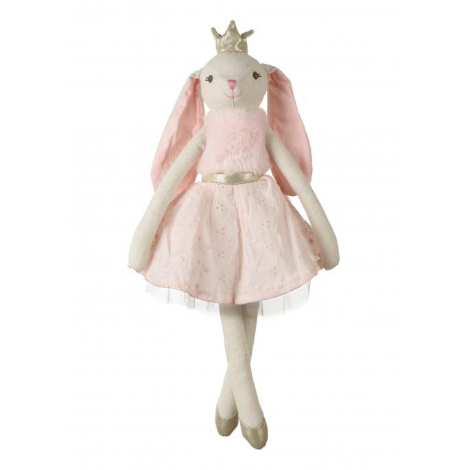 בובת בד ארנבת עם כתר
