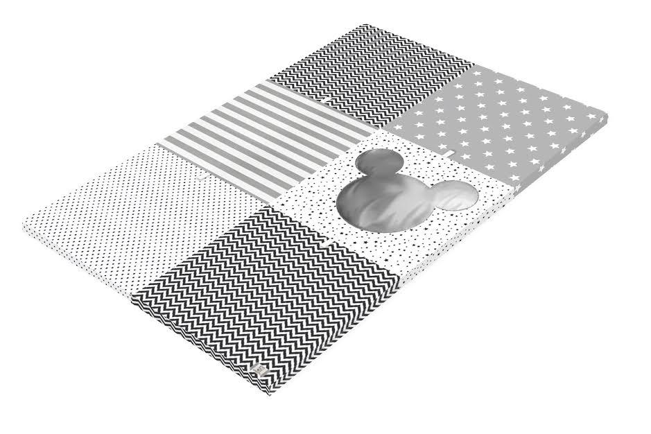 משטח פעילות לתינוק אפור לבן דגם מיקי