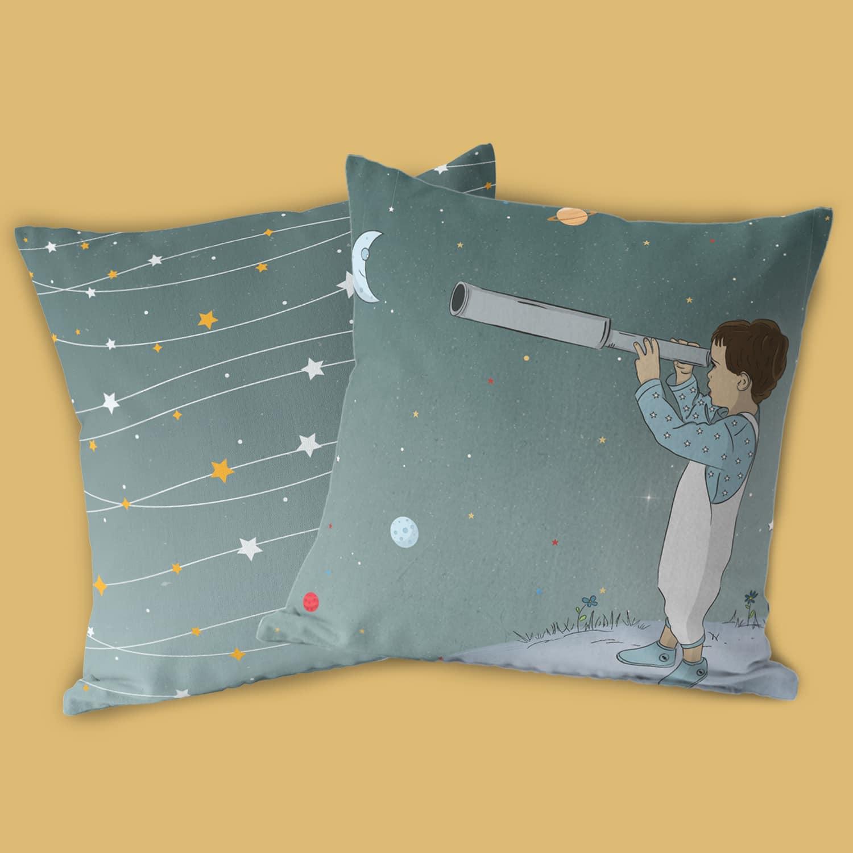 כרית נוי לחדי ילדים דגם חלל