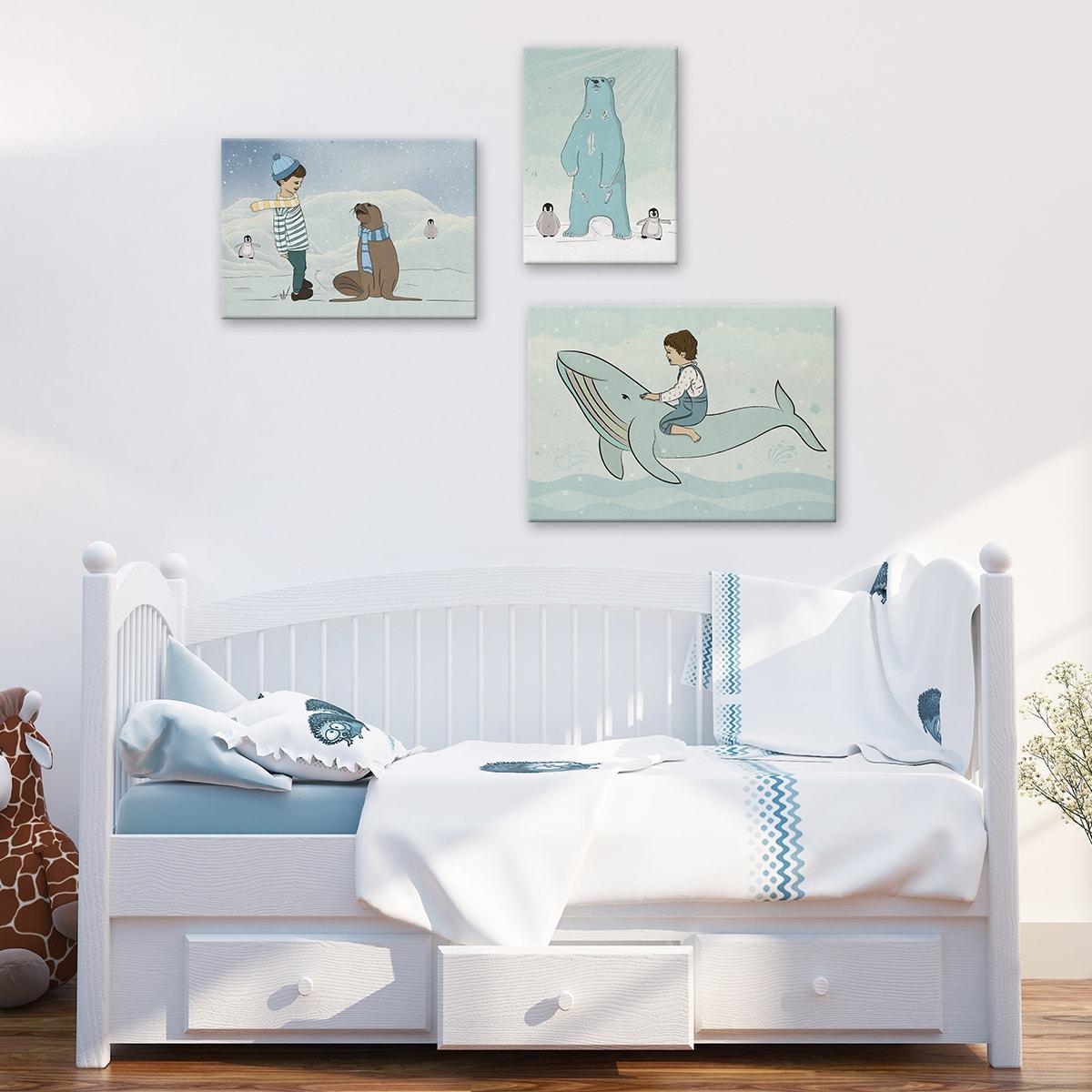 תמונה לחדר ילדים - דגם דב בשלג