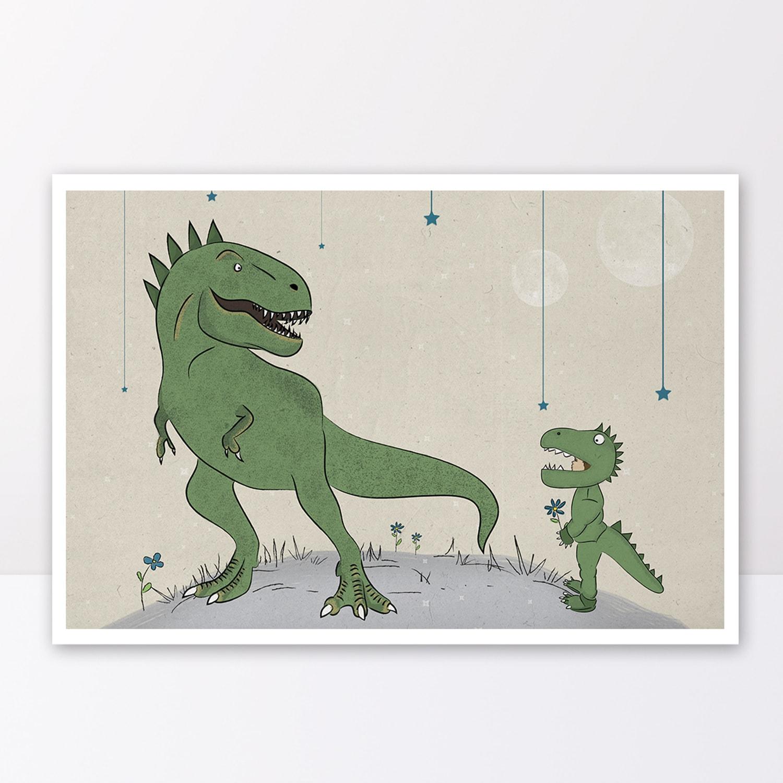 תמונה לחדרי ילדים סט דינוזאורים