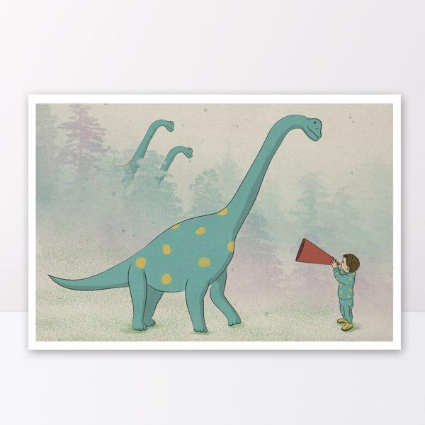 תמנה לחדר ילדים- דינוזאור טורקיז