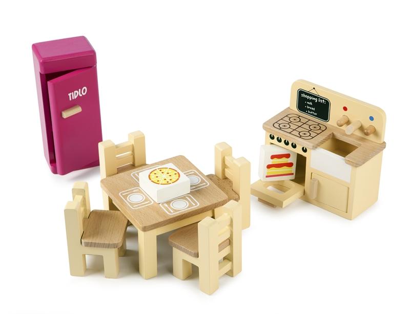 מטבח לבית בובות מעץ