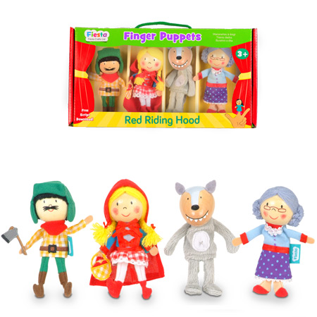 סט בובות אצבע כיפה אדומה Fiesta Crafts