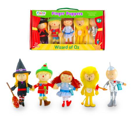 סט בובות אצבע הקוסם מארץ עוץ Fiesta Crafts