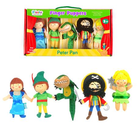 סט בובות אצבע פיטר פן Fiesta Crafts