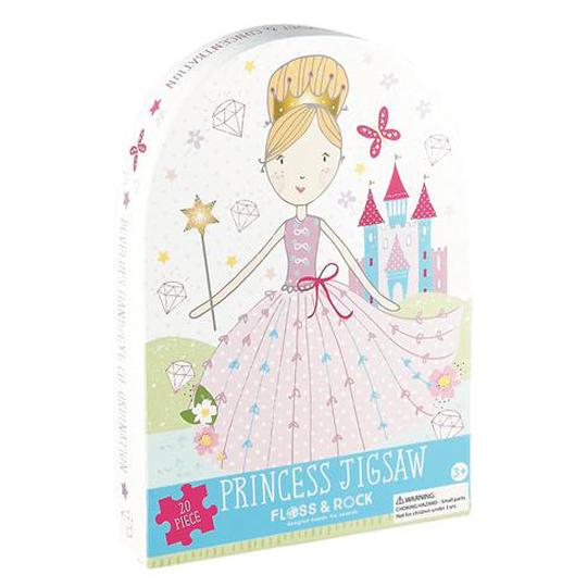 פאזל נסיכה בקופסא מעוצבת עם עיטורים מנצנצים 20 חלקים