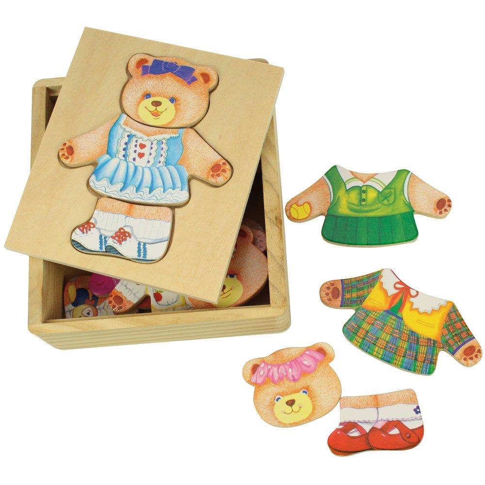 משחק הלבשה מעץ - דובה