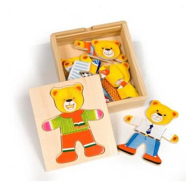 משחק הלבשה מעץ - דב