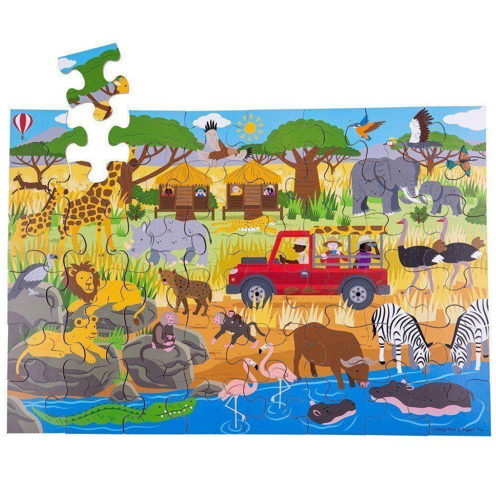 פאזל מעץ 48 חלקים הרפתקה באפריקה