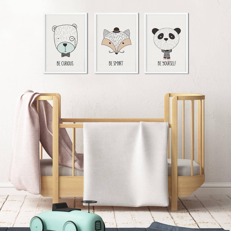 תמונה לחדרי ילדים סט חיות