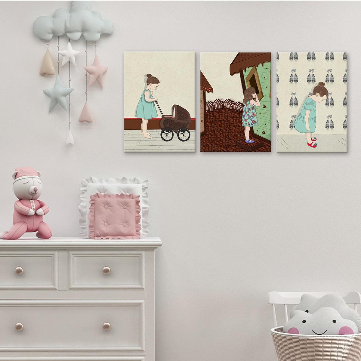 תמונה לחדרי ילדים ילדת שוקולד