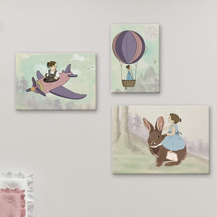 תמונה לחדרי ילדים באויר בכדור פורח