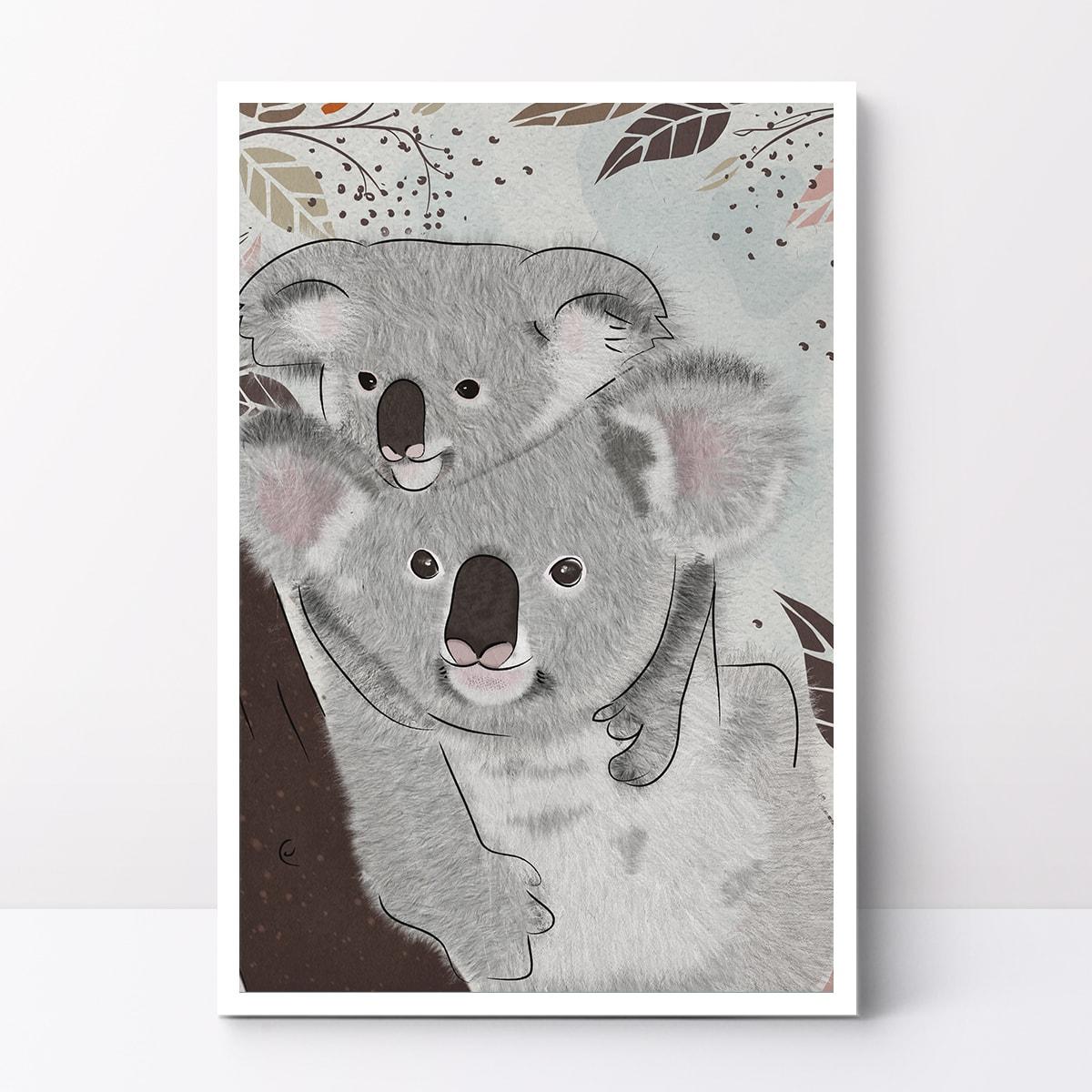 תמונה לחדר ילדים סט תמונות גורי חיות