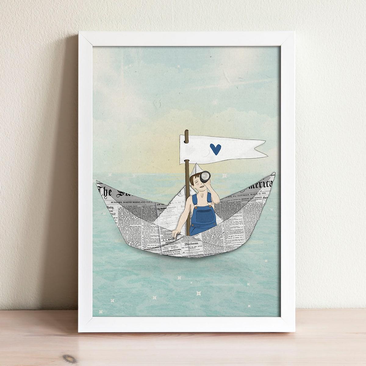 תמונה לחדרי ילדים סט הרפתקאה בים