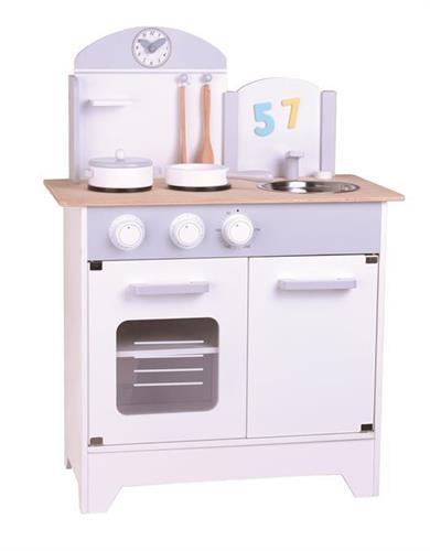 מטבח לילדים בשילוב אפור עיצוב נורדי
