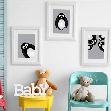 תמונה לחדרי ילדים פינגווין
