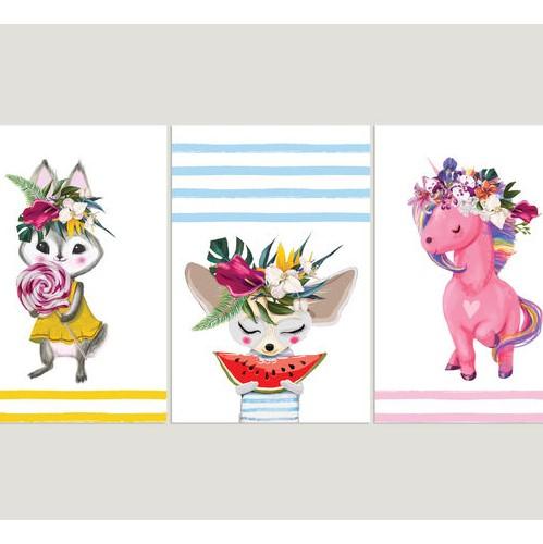 תמונה לחדרי ילדים חיות בצבע