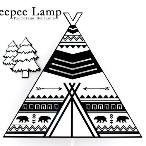 מנורת לילה צמודת קיר אוהל טיפי