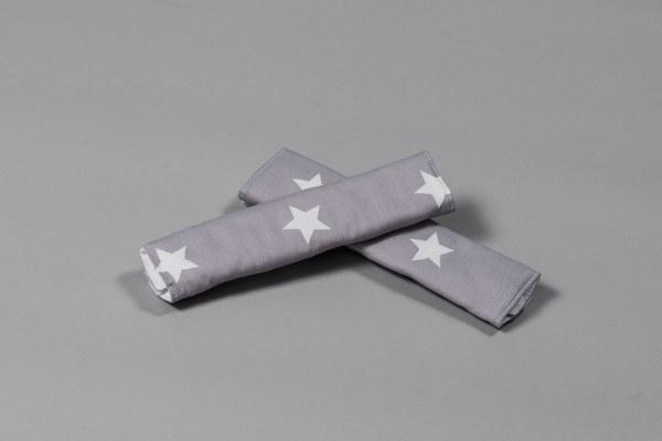 אפור כוכבים גדולים - חבקים / חגורות לעגלה