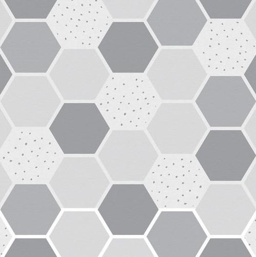 טפט לקיר משושה אפור