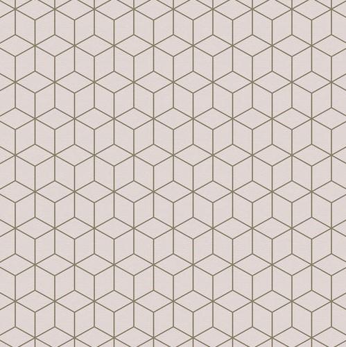 טפט קוביות גאומטרי גוון פודרה