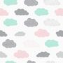 טפט לחדרי ילדים דגם עננים אקווה ופודרה