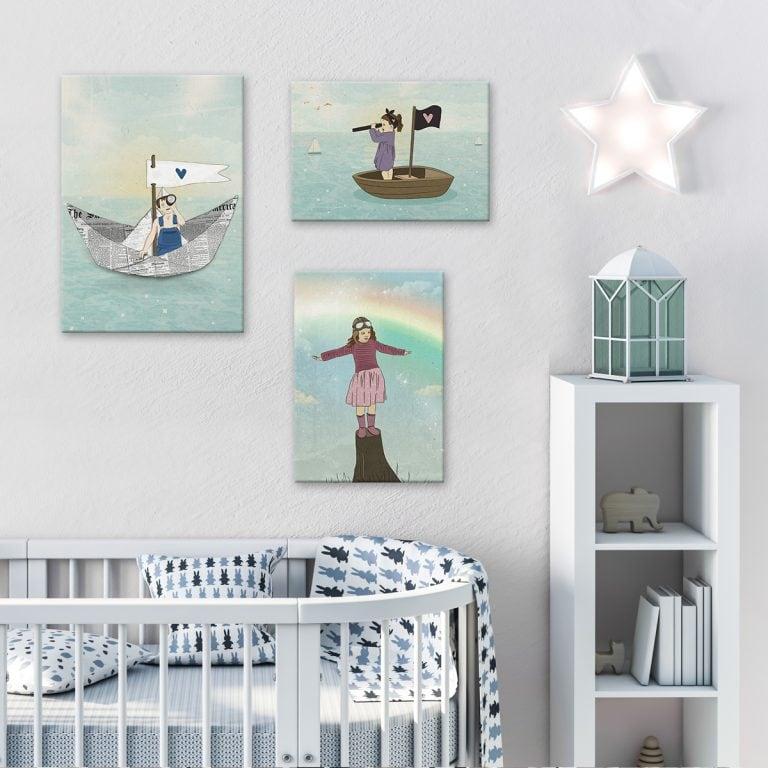 תמונה לחדר ילדים ילדה בסירת מיפרש