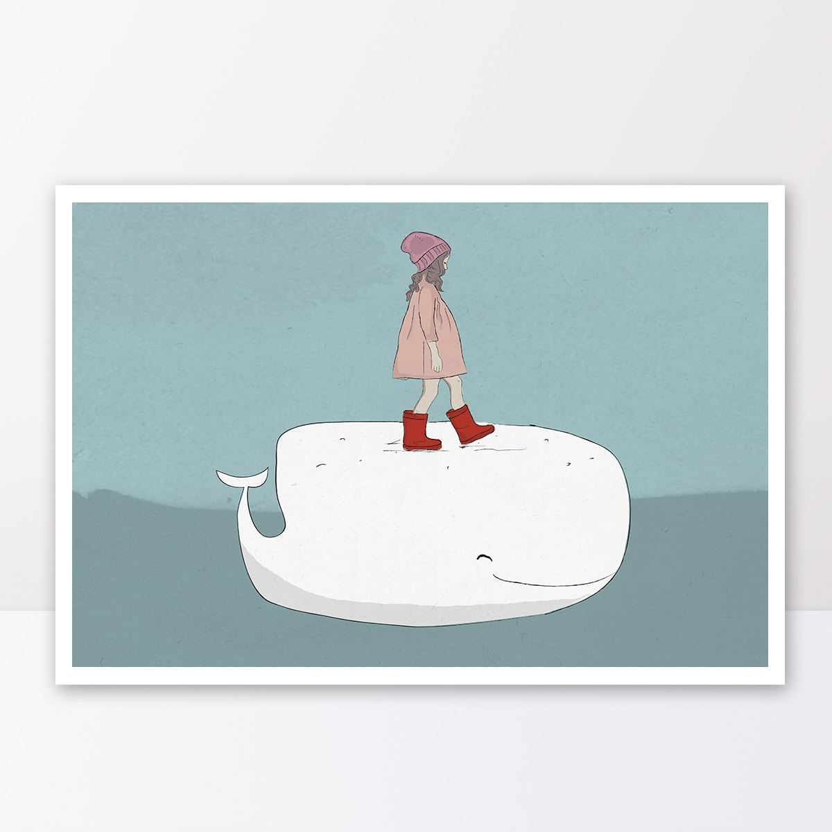 תמונה לחדר ילידם ילדה מפליגה על לוייתן