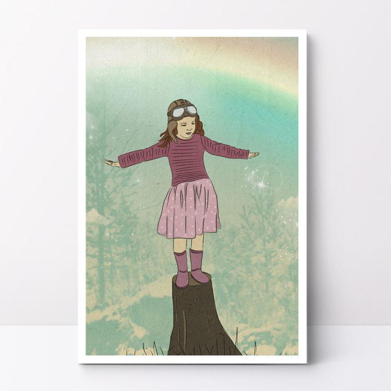 תמונה לחדר ילדים על גג העולם