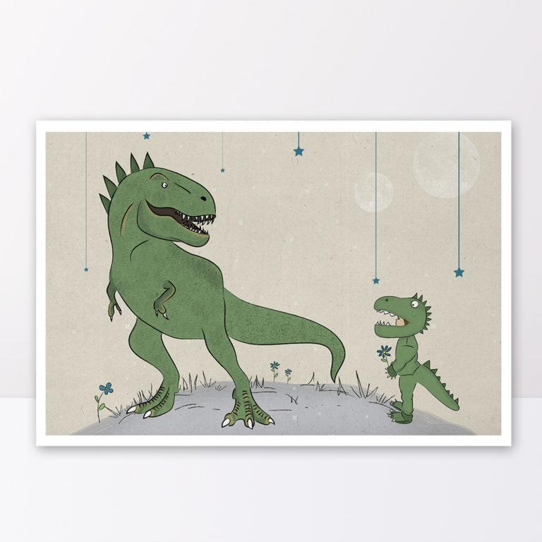 תמונה לחדר ילידם דינוזאורים ירוקים