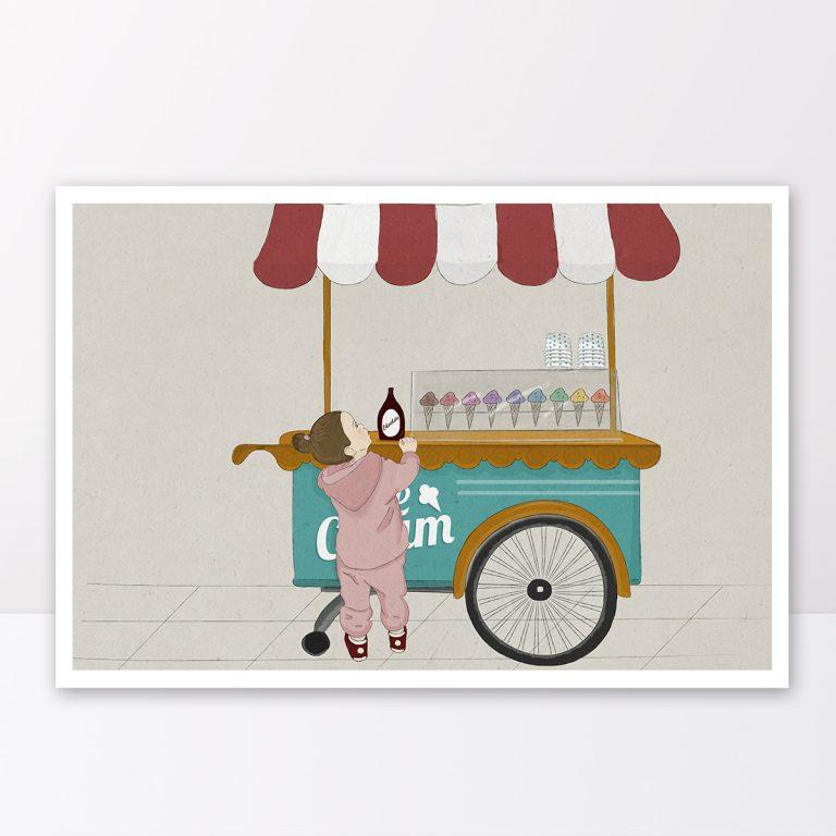 תמונה לחדר ילדים דוכן גלידות