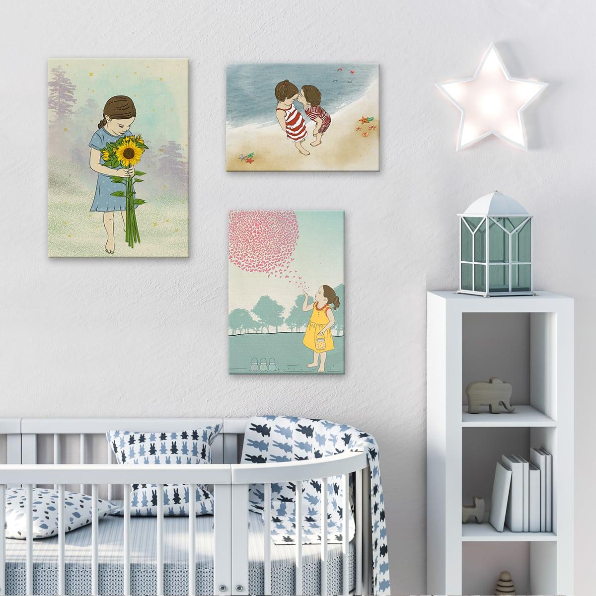 תמונה לחדר ילדים מפריחת הלבבות